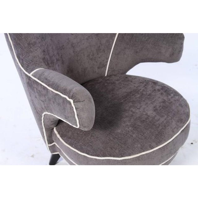 Mid Century Boudoir Chair with Floating Arms For Sale - Image 4 of 5