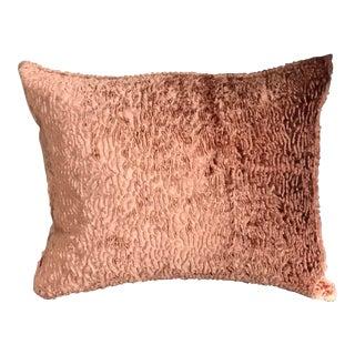 Amber Faux Lamb Rectangular Pillow With Down Filler