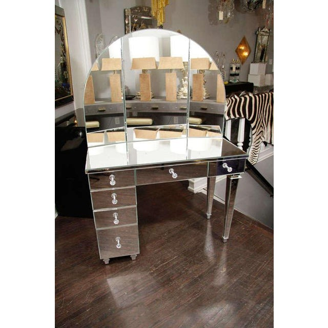 Art Deco Style Mirrored Dressing Table For Sale - Image 10 of 10