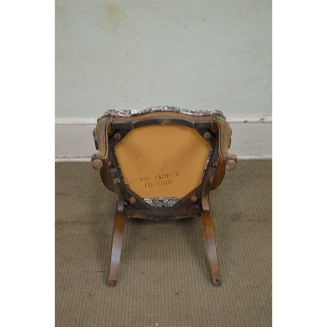 Textile Thomasville Vintage French Louis XV Style Set of 6 Dining Chairs For Sale - Image 7 of 12