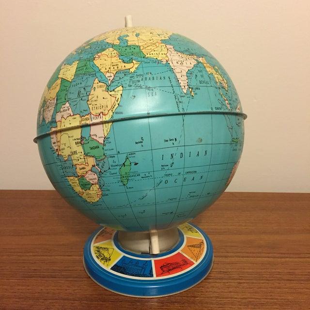 Vintage Ohio Art Tin Lithograph Metal Globe - Image 3 of 5