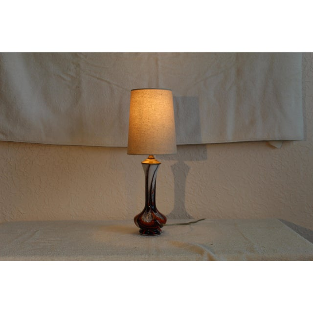 Mid-Century Modern Mid Century Modern Petite Murano Table Lamp For Sale - Image 3 of 9