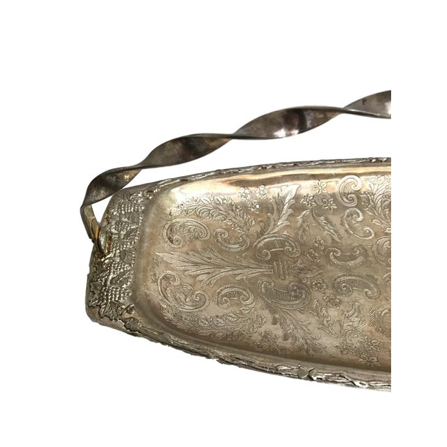Silver Tray with Carrying Handle - Image 4 of 7