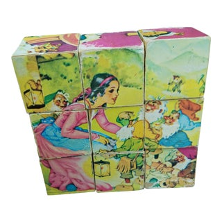 Vintage Story Book Fairy Tale Puzzle Blocks For Sale