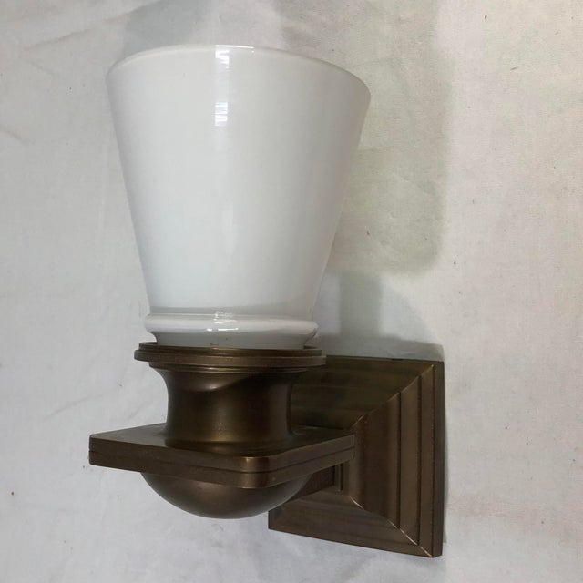 Traditional Visual Comfort New York Subway Bath Wall Light in Antique Brass For Sale - Image 3 of 11