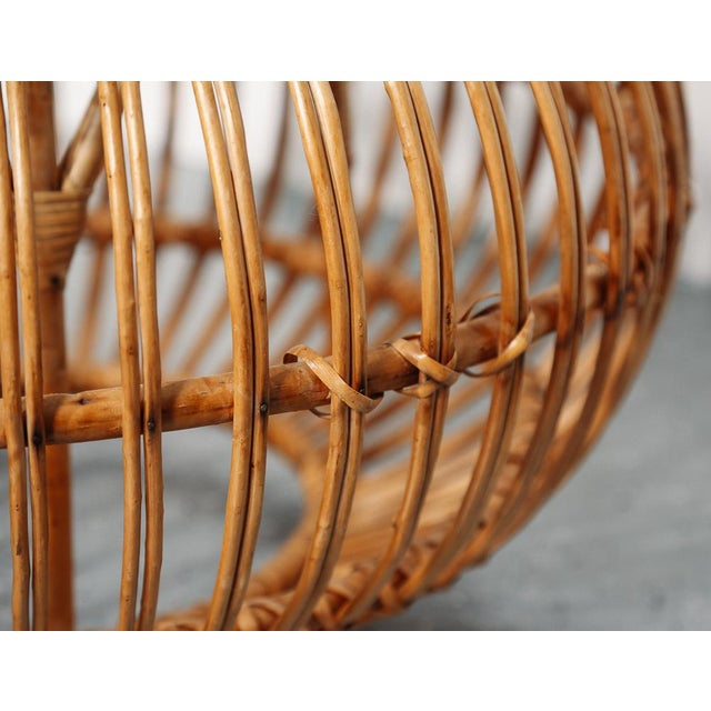 1950s Mid Century Franco Albini Ottoman/Pouf/Side Table For Sale - Image 5 of 6