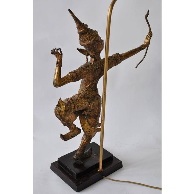Collection of Vintage Thai Figure Lamps For Sale In Boston - Image 6 of 10
