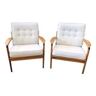 Ib Kofod-Larsen Mid-Century Danish Teak Lounge Chairs - a Pair For Sale