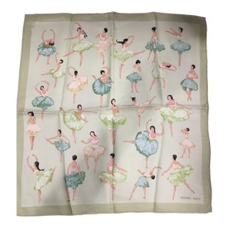 Vintage Hermes Ballerinas Pocket Square For Sale