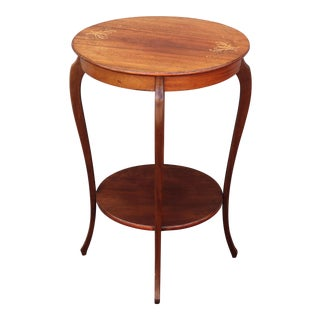 1930s French Art Deco Round Accent Table For Sale