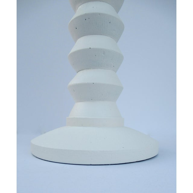 Brass Mid-Century Plaster Zig-Zag Tiered Lamp For Sale - Image 7 of 13