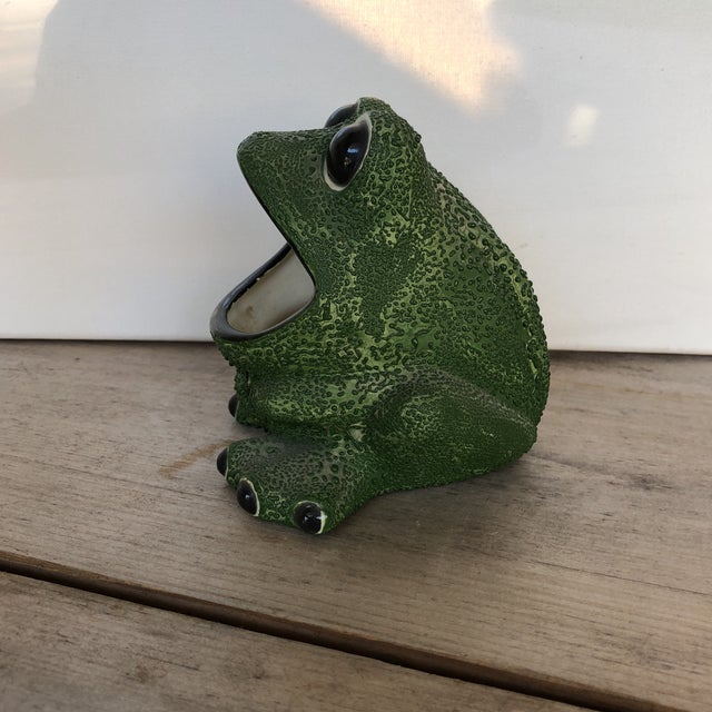 Mid-Century Modern Frog Planter For Sale - Image 4 of 7