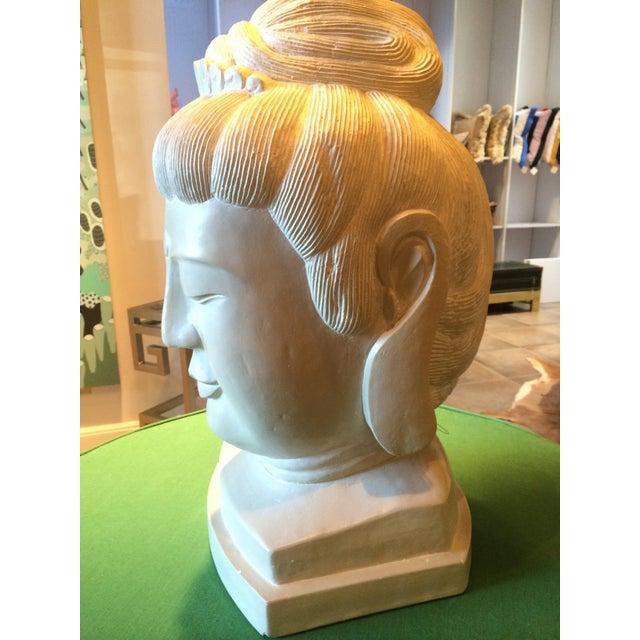 Large Plaster Buddah Bust - Image 2 of 4