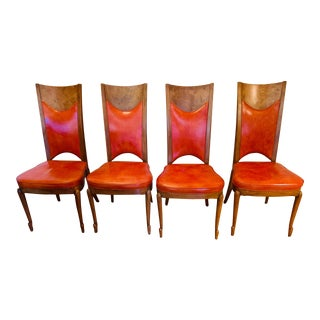 Mastercraft Mid-Century Burnt Orange Dining Chairs - Set 4 For Sale
