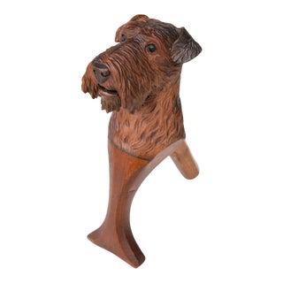Antique Black Forest Carved Dog Nutcracker For Sale