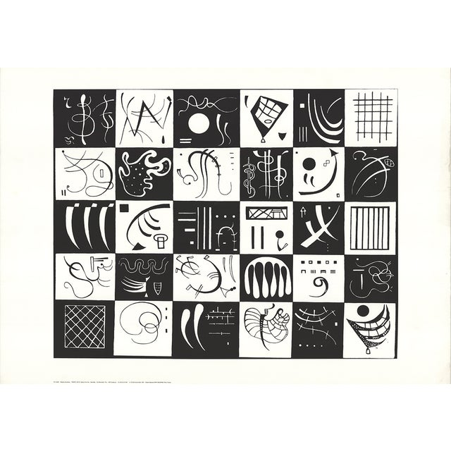 1991 Wassily Kandinsky 'Thirty' Expressionism Black & White Netherlands Serigraph For Sale