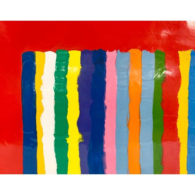 John O'Hara. Sardinia, Red. Encaustic Painting For Sale - Image 4 of 7