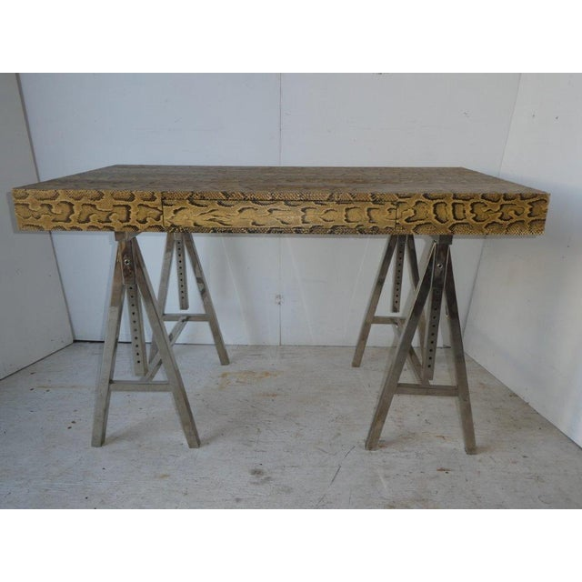 Modern Snake Skin Writing Desk For Sale - Image 4 of 10