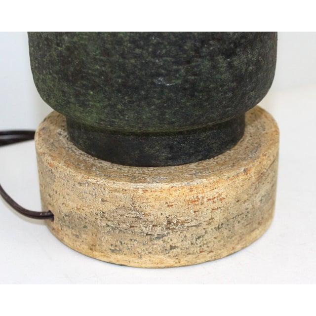 Aldo Londi Italian Pottery Lamp For Sale - Image 7 of 9