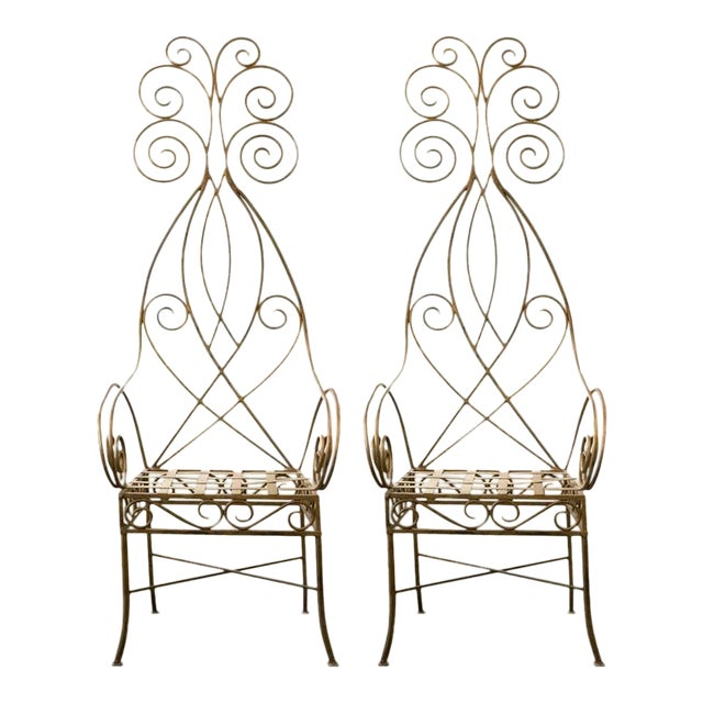 Pair of French Metal Fantasy Chairs - Image 1 of 4