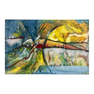 Mid 20th Century Abstract Painting on Canvas For Sale