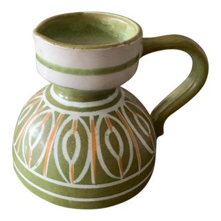 Mid Century Italian Pottery Pitcher - Signed For Sale