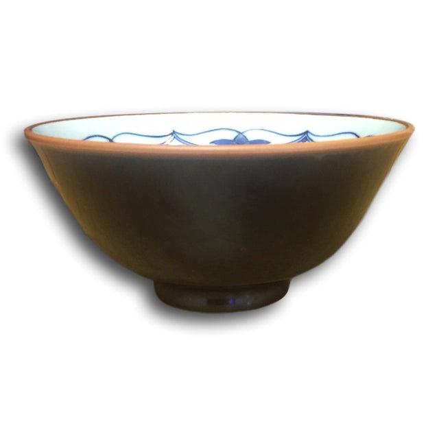 Small Vintage Porcelain Japenese Blue & White Decorative Imari Bowl - Image 2 of 4