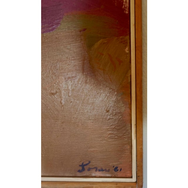 Abstract Large Abstract Painting by Erle Loran For Sale - Image 3 of 7