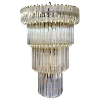 1960's American Lucite Acrylic Cascading Chandelier from the University of Northern Colorado's Grand Ballroom For Sale