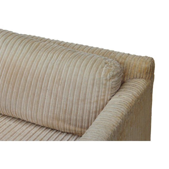 Cotton Parsons Sofa by Milo Baughman for Thayer Coggin For Sale - Image 7 of 11
