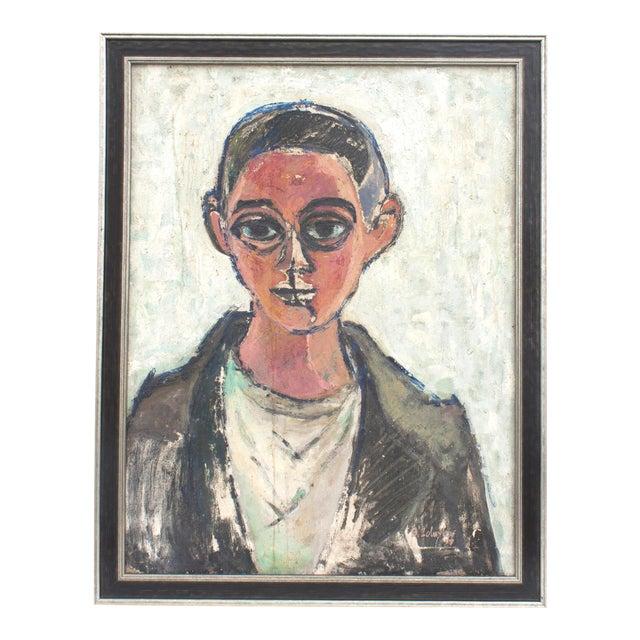 Vintage Framed Portrait of Man For Sale
