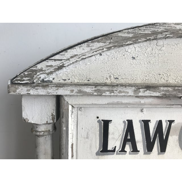 Sign - Vintage Distressed Law Offices Sign For Sale In Providence - Image 6 of 6