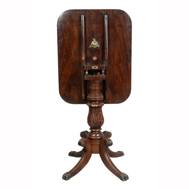 American Mahogany Tilt-Top Table For Sale - Image 11 of 12