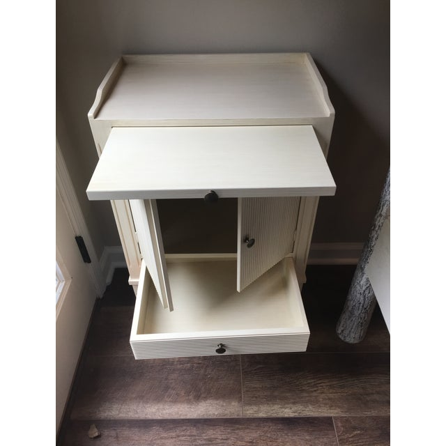Swedish Nightstand With Pull-Out Desk - Image 2 of 6