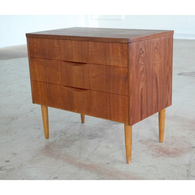 Mid-Century Danish Teak 3-Drawer Dresser - Image 2 of 5