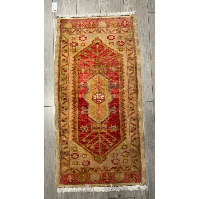Textile Vintage Garnet & Gold Shield Patterned Prayer Rug For Sale - Image 7 of 7
