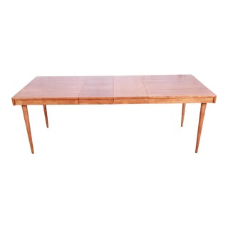Edmond Spence Swedish Modern Maple Extension Dining Table, Newly Restored For Sale