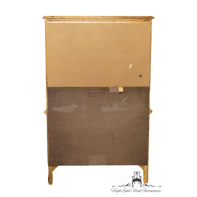 Late 20th Century Vintage Stanley Furniture French Regency Style Armoire For Sale - Image 12 of 13