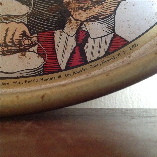 Vintage Original Pabst Blue Ribbon Metal Tray For Sale - Image 5 of 10