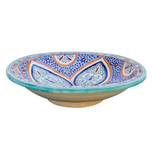 Ceramic Andalusian Motif Ceramic Bowl For Sale - Image 7 of 9