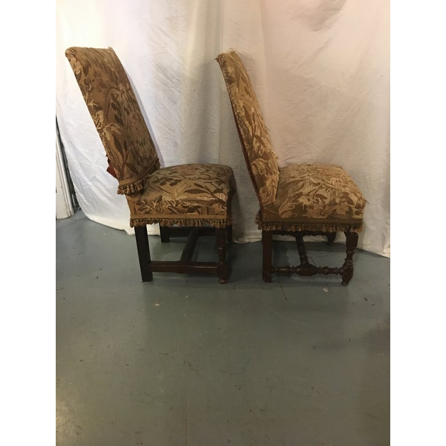 These chairs were solidly made in the 1710's--hence why they're still around today! Recovered between 1870 and 1890, they...