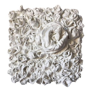 "Chloe Hedden ""White Rosettes 3"" Sculpture For Sale"