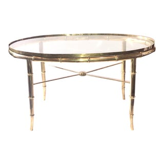 1970s Hollywood Regency Mastercraft Cocktail Table For Sale