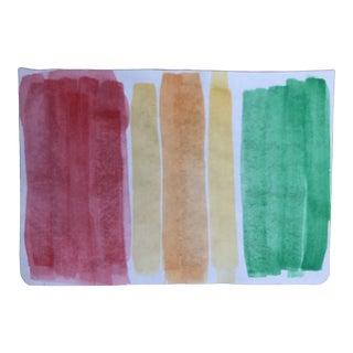 Abstract Watercolor From a European Travel Sketchbook For Sale