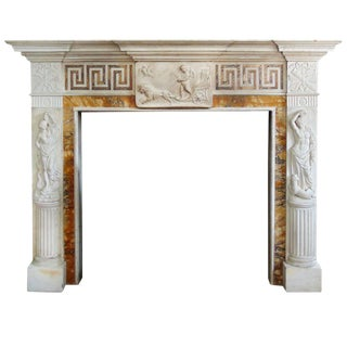 Marble Fire Place Mantel From Heiress Doris Duke For Sale