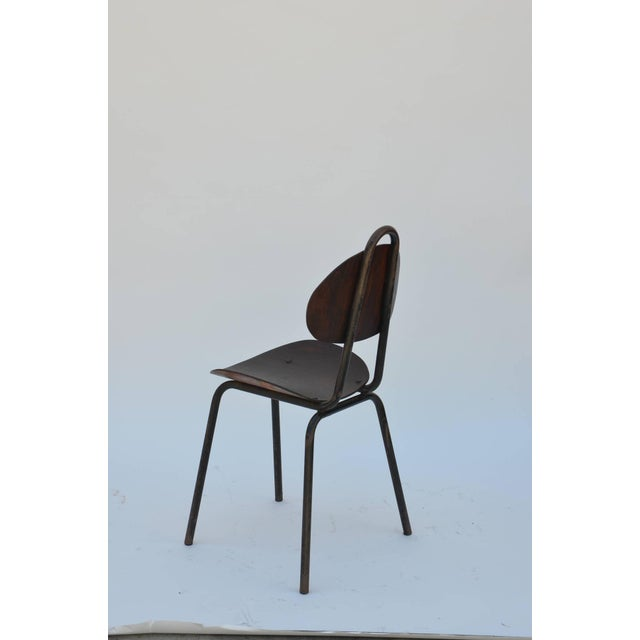 Pair of Unique French Industrial Bentwood Side Chairs For Sale In Los Angeles - Image 6 of 10