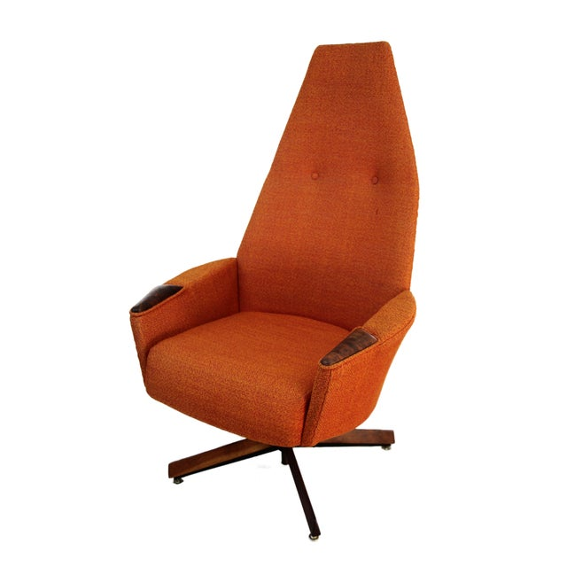 Adrian Pearsall Orange Highback Lounger - Image 1 of 5