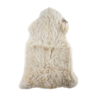 "Contemporary Natural Sheepskin Pelt - 2'1""x3'4"""