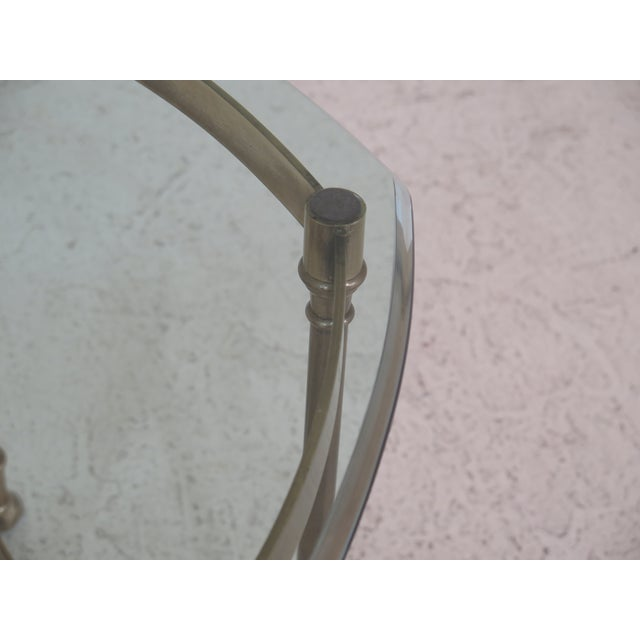 Traditional Labarge Brass & Glass Hoof Foot Occasional Table For Sale - Image 3 of 7