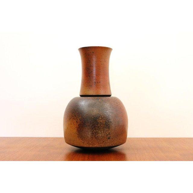 Mid-Century Modern German Studio Pottery Vase For Sale - Image 3 of 11